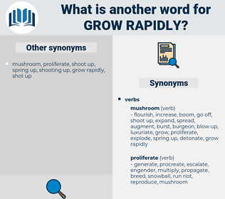 grow rapidly, synonym grow rapidly, another word for grow rapidly, words like grow rapidly, thesaurus grow rapidly