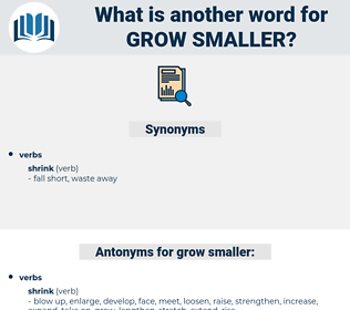 grow smaller, synonym grow smaller, another word for grow smaller, words like grow smaller, thesaurus grow smaller