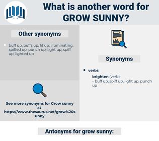 grow sunny, synonym grow sunny, another word for grow sunny, words like grow sunny, thesaurus grow sunny