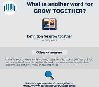 grow together, synonym grow together, another word for grow together, words like grow together, thesaurus grow together
