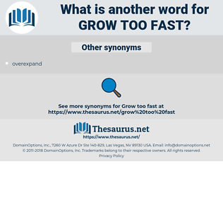 grow too fast, synonym grow too fast, another word for grow too fast, words like grow too fast, thesaurus grow too fast
