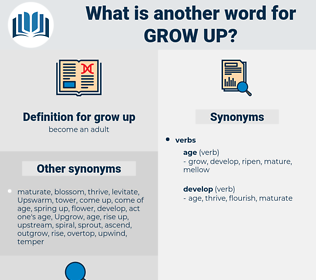 grow up, synonym grow up, another word for grow up, words like grow up, thesaurus grow up