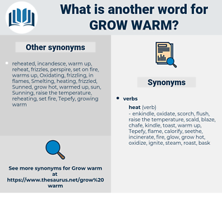 grow warm, synonym grow warm, another word for grow warm, words like grow warm, thesaurus grow warm