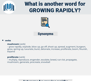 growing rapidly, synonym growing rapidly, another word for growing rapidly, words like growing rapidly, thesaurus growing rapidly