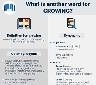 growing, synonym growing, another word for growing, words like growing, thesaurus growing