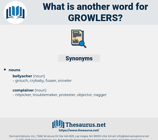 growlers, synonym growlers, another word for growlers, words like growlers, thesaurus growlers
