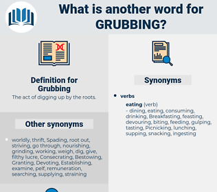 Grubbing, synonym Grubbing, another word for Grubbing, words like Grubbing, thesaurus Grubbing