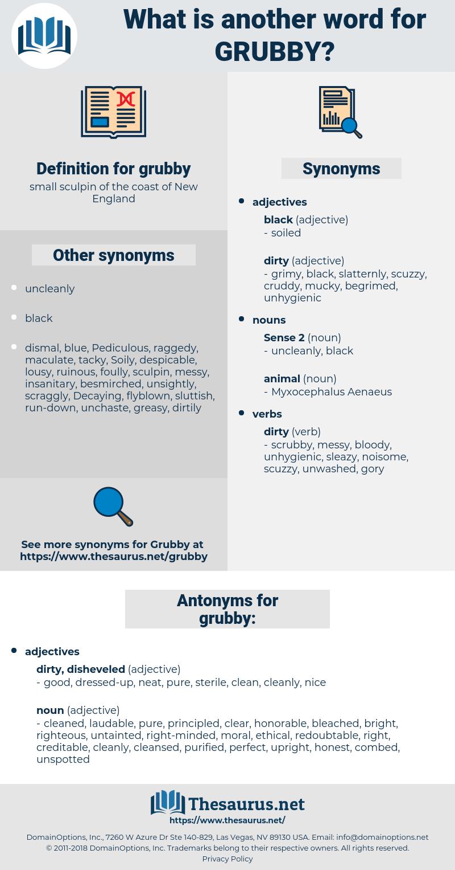 grubby, synonym grubby, another word for grubby, words like grubby, thesaurus grubby