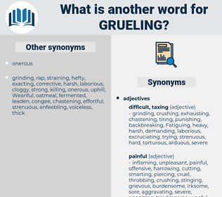 grueling, synonym grueling, another word for grueling, words like grueling, thesaurus grueling