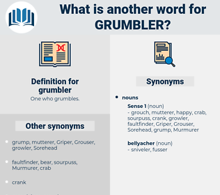 grumbler, synonym grumbler, another word for grumbler, words like grumbler, thesaurus grumbler