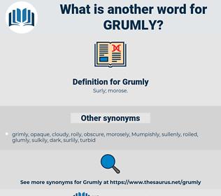 Grumly, synonym Grumly, another word for Grumly, words like Grumly, thesaurus Grumly