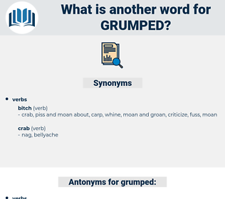 grumped, synonym grumped, another word for grumped, words like grumped, thesaurus grumped