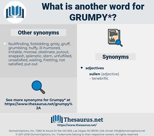 grumpy, synonym grumpy, another word for grumpy, words like grumpy, thesaurus grumpy
