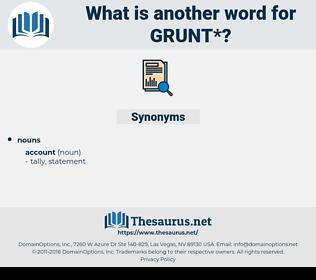 grunt, synonym grunt, another word for grunt, words like grunt, thesaurus grunt