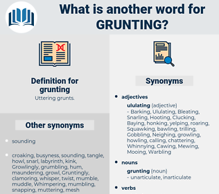 grunting, synonym grunting, another word for grunting, words like grunting, thesaurus grunting