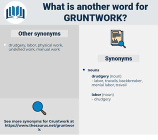 gruntwork, synonym gruntwork, another word for gruntwork, words like gruntwork, thesaurus gruntwork