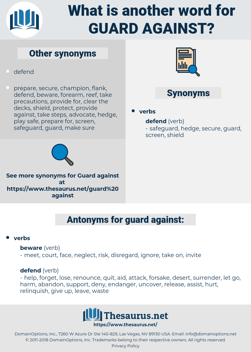 guard against, synonym guard against, another word for guard against, words like guard against, thesaurus guard against
