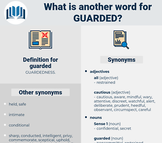guarded, synonym guarded, another word for guarded, words like guarded, thesaurus guarded