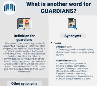 guardians, synonym guardians, another word for guardians, words like guardians, thesaurus guardians