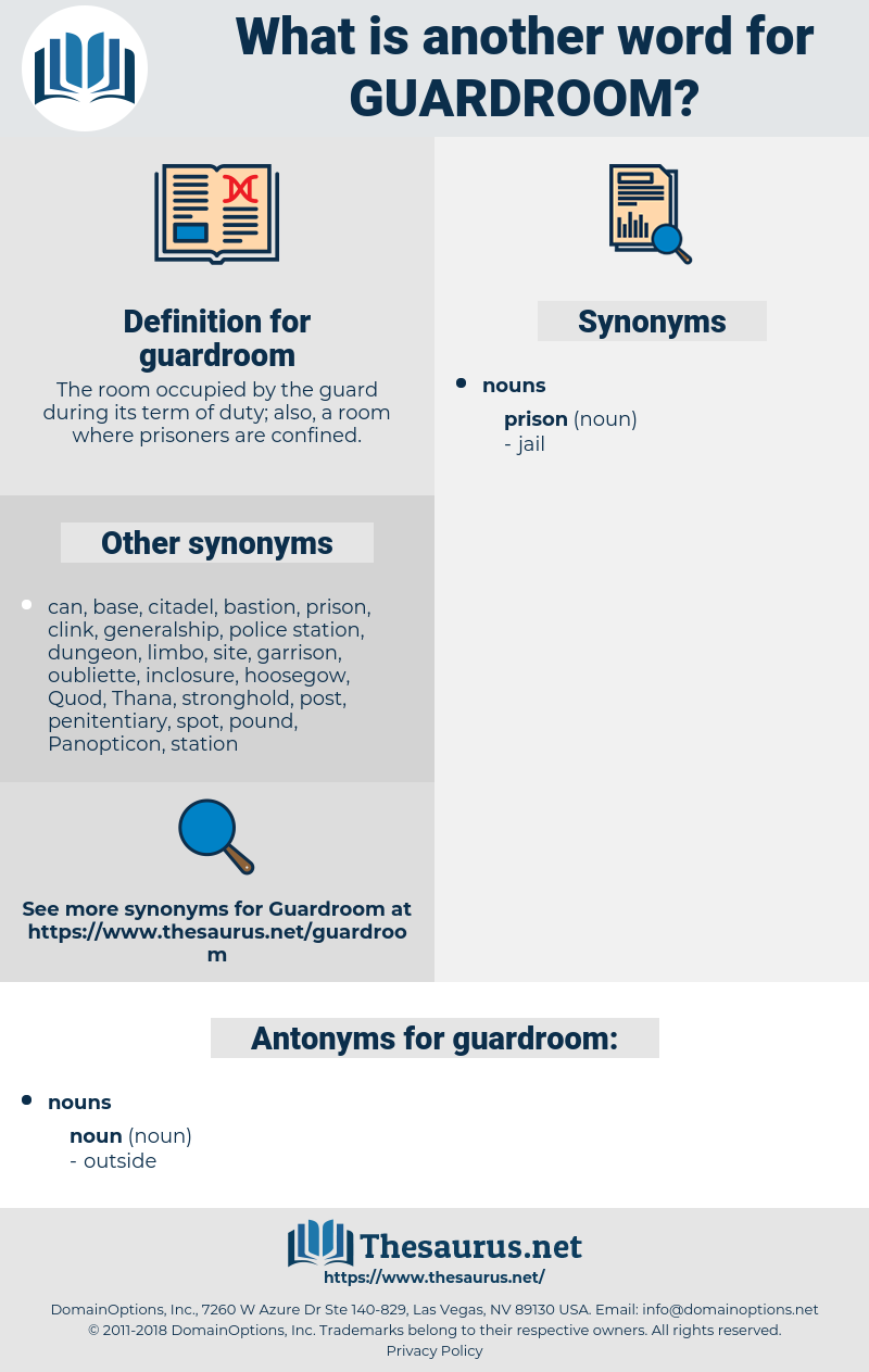 guardroom, synonym guardroom, another word for guardroom, words like guardroom, thesaurus guardroom