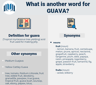 guava, synonym guava, another word for guava, words like guava, thesaurus guava