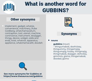 gubbins, synonym gubbins, another word for gubbins, words like gubbins, thesaurus gubbins