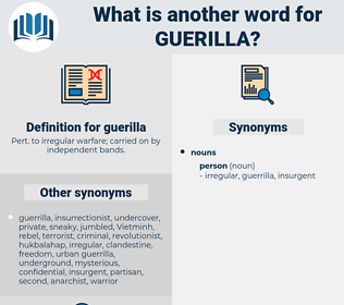 guerilla, synonym guerilla, another word for guerilla, words like guerilla, thesaurus guerilla