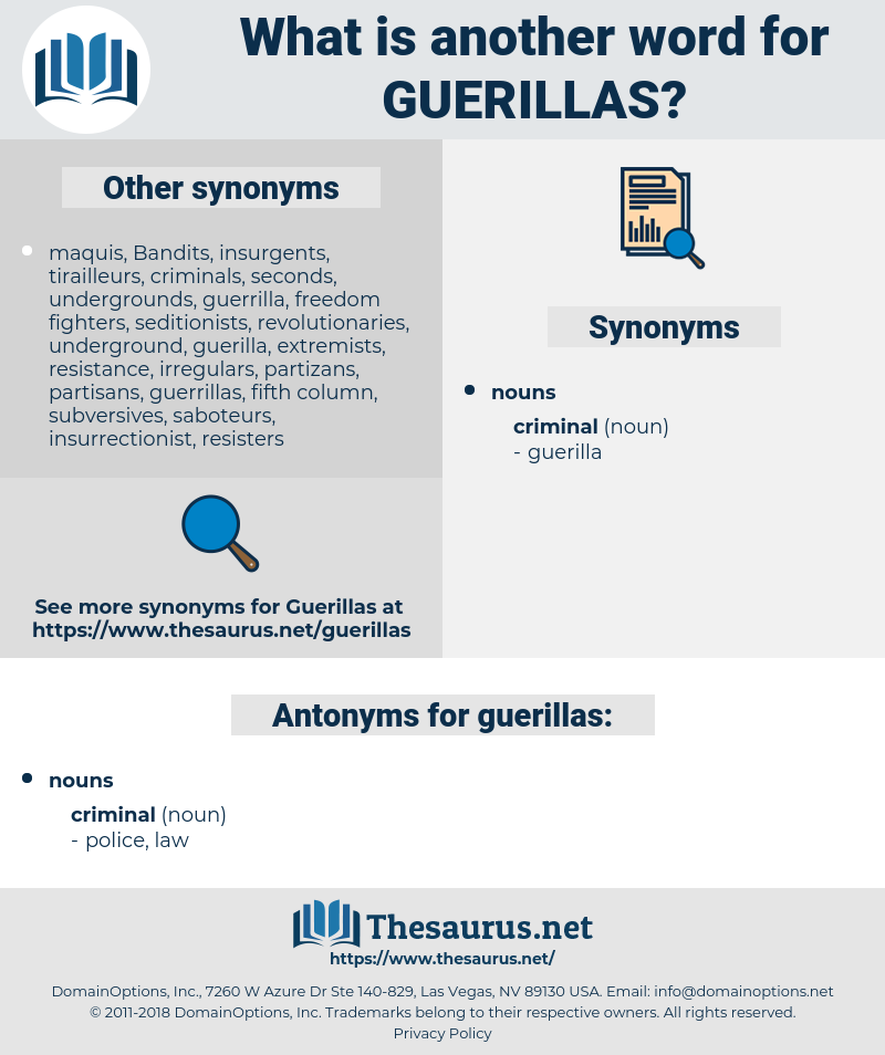 guerillas, synonym guerillas, another word for guerillas, words like guerillas, thesaurus guerillas