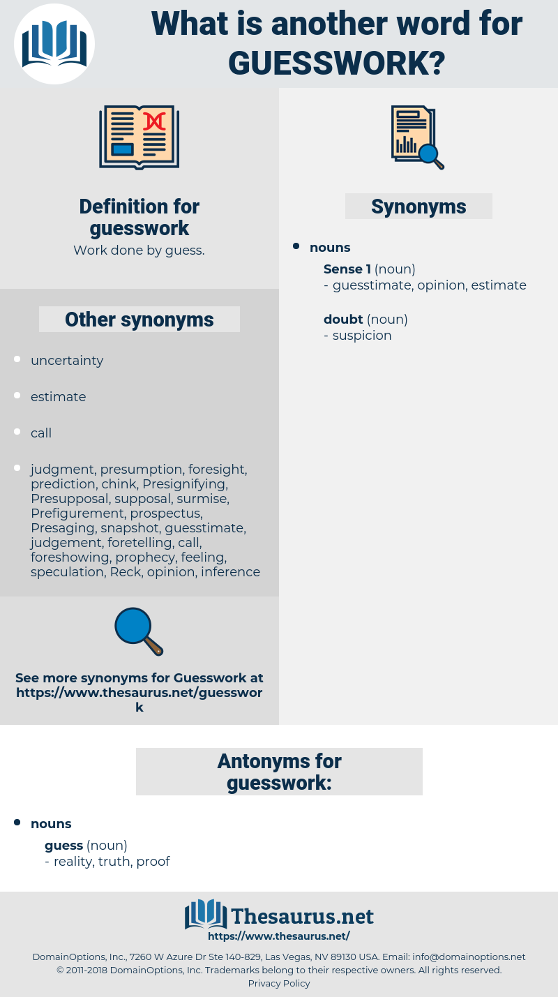 guesswork, synonym guesswork, another word for guesswork, words like guesswork, thesaurus guesswork