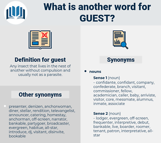 guest, synonym guest, another word for guest, words like guest, thesaurus guest