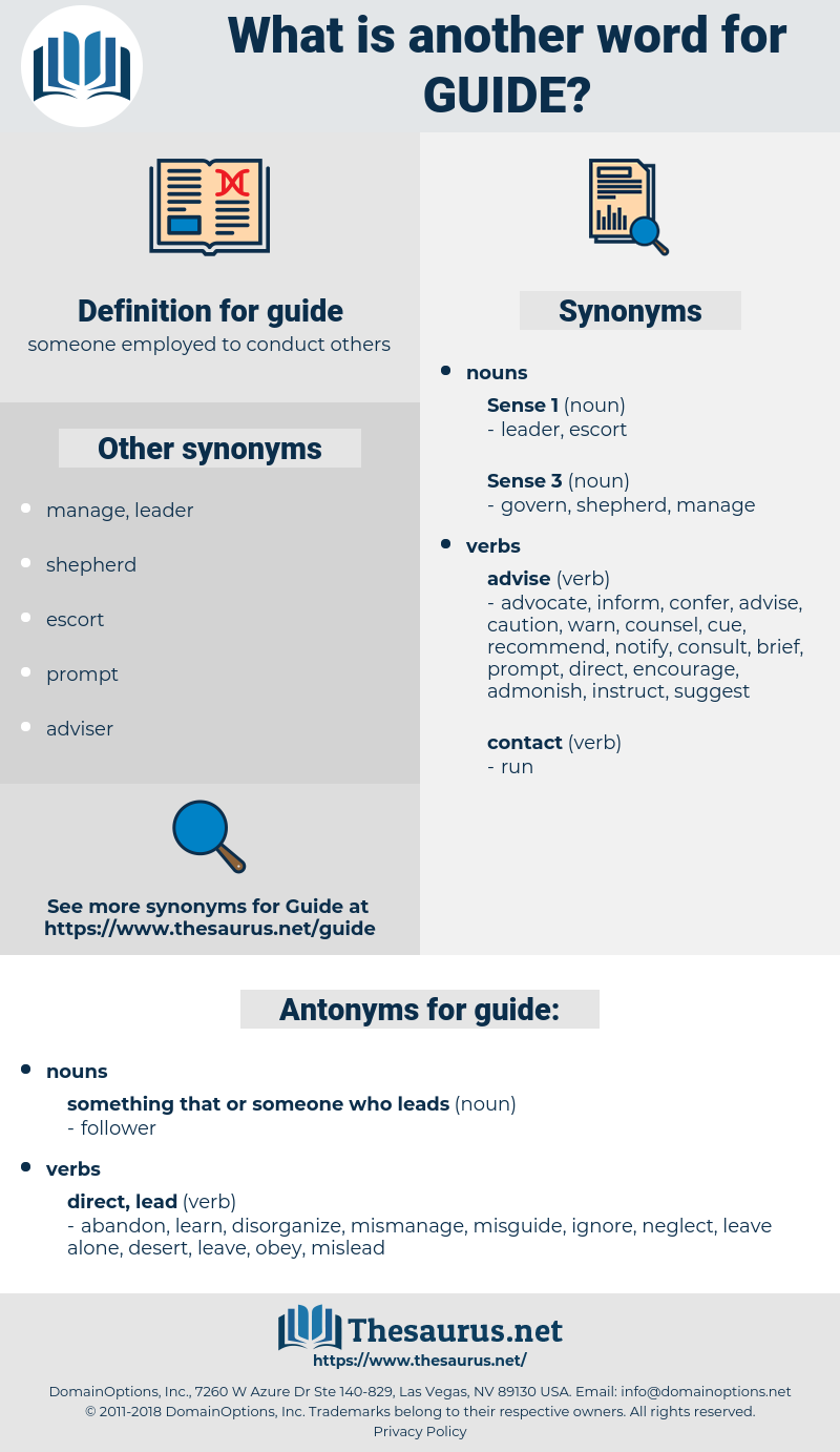 guide, synonym guide, another word for guide, words like guide, thesaurus guide