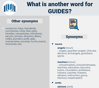 guides, synonym guides, another word for guides, words like guides, thesaurus guides