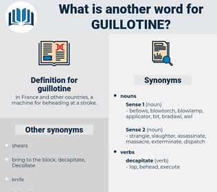 guillotine, synonym guillotine, another word for guillotine, words like guillotine, thesaurus guillotine