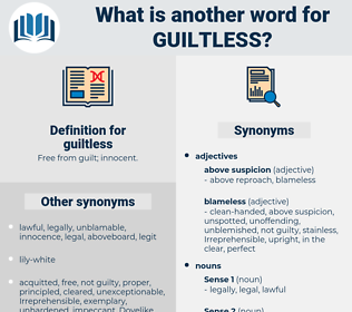 guiltless, synonym guiltless, another word for guiltless, words like guiltless, thesaurus guiltless
