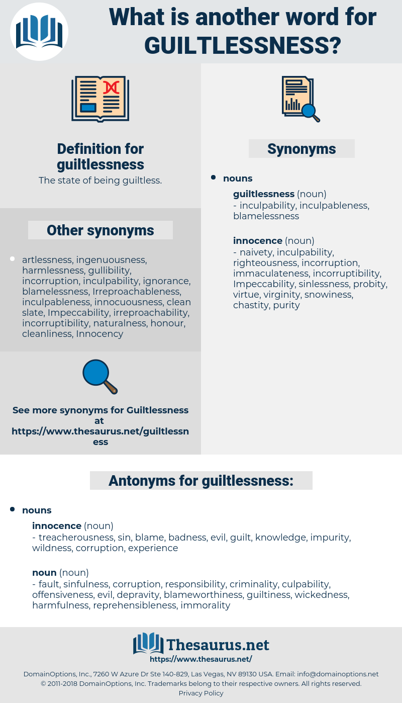 guiltlessness, synonym guiltlessness, another word for guiltlessness, words like guiltlessness, thesaurus guiltlessness