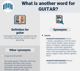 guitar, synonym guitar, another word for guitar, words like guitar, thesaurus guitar