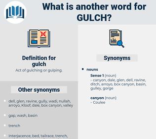 gulch, synonym gulch, another word for gulch, words like gulch, thesaurus gulch