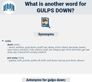gulps down, synonym gulps down, another word for gulps down, words like gulps down, thesaurus gulps down