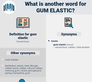 gum elastic, synonym gum elastic, another word for gum elastic, words like gum elastic, thesaurus gum elastic