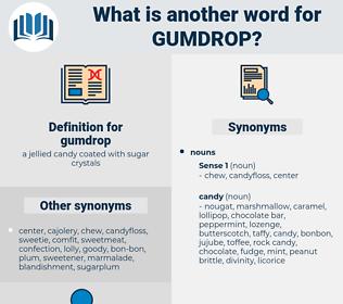 gumdrop, synonym gumdrop, another word for gumdrop, words like gumdrop, thesaurus gumdrop