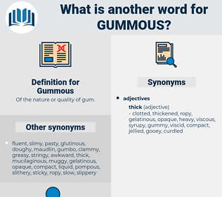 Gummous, synonym Gummous, another word for Gummous, words like Gummous, thesaurus Gummous