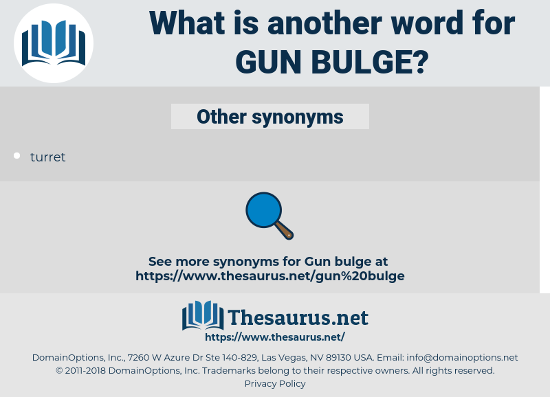 gun bulge, synonym gun bulge, another word for gun bulge, words like gun bulge, thesaurus gun bulge