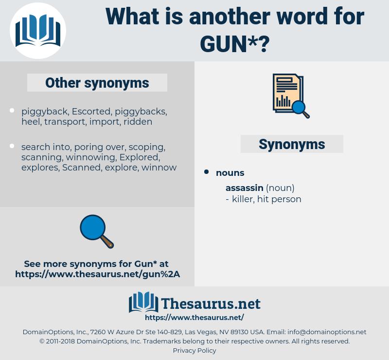gun, synonym gun, another word for gun, words like gun, thesaurus gun