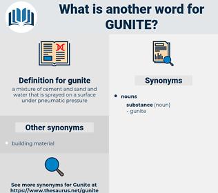 gunite, synonym gunite, another word for gunite, words like gunite, thesaurus gunite
