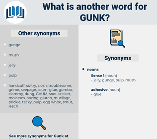 gunk, synonym gunk, another word for gunk, words like gunk, thesaurus gunk