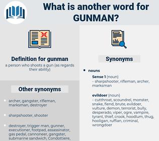 gunman, synonym gunman, another word for gunman, words like gunman, thesaurus gunman