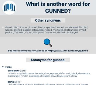 gunned, synonym gunned, another word for gunned, words like gunned, thesaurus gunned