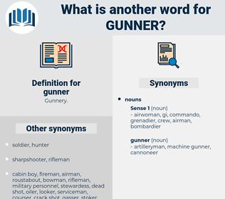 gunner, synonym gunner, another word for gunner, words like gunner, thesaurus gunner