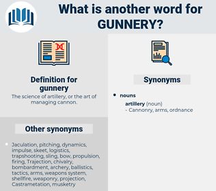 gunnery, synonym gunnery, another word for gunnery, words like gunnery, thesaurus gunnery