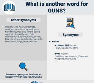 Guns, synonym Guns, another word for Guns, words like Guns, thesaurus Guns